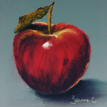 Apple-in-Pastel-by-Jeanne-Cotter