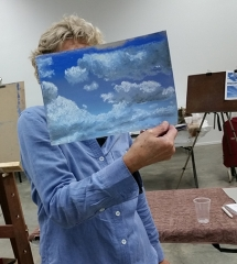 Painting Clouds with Pastels