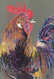 Delicious Art Rooster Pastel