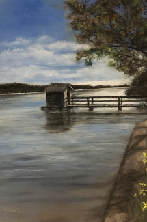Maroochy-River-Mourning pastel by Jeanne Cotter-[lowres]