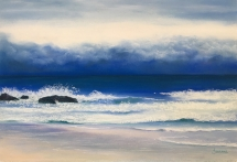 Moody Blues Pastel by Jeanne Cotter
