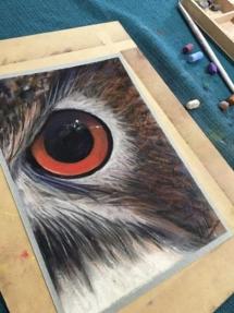 Owl Eye Pastel Workshop 2019 3