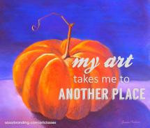 pumpkin-jeanne-treloar-art-classes