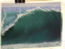 Painting waves by Karen