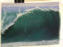 Painting waves by Karen