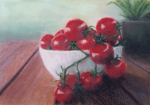 Tomatoes on the Deck by Jeanne Cotter