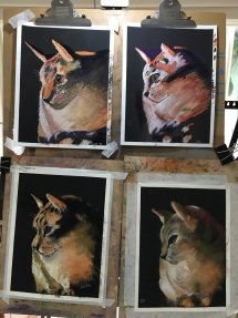 Cat Pastel Drawing at Delicious Art Brisbane March2020 All
