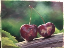 Cherries at Delicious Art Classes Brisbane 2019 Jeanne