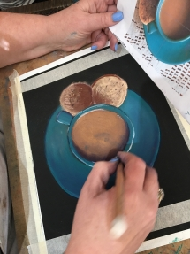 Coffee Cup Art Class at Delicious Art Brisbane 2019 3