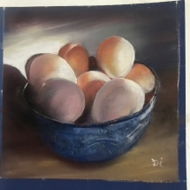 Eggs in a bowl by Di