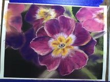 Flower pink and yellow at Delicious Art Class Brisbane 2019 6
