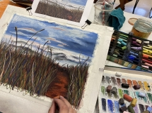 Grasses at Intro to Pastels 2021 4