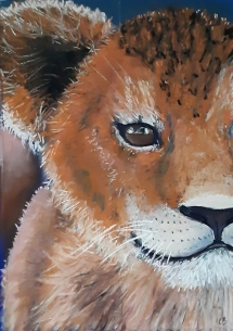 Lion cub art class at Delicious Art Brisbane July 2019 4