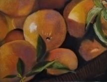 Oranges Basket Art Class March2020 Lesley