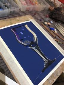 wine glass at Delicious Art Brisbane 2019 003